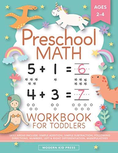 Preschool Math Workbook for Toddlers Ages 2-4: Beginner Math Preschool...