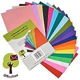 OfficeTree® Papier de Soie 300 Feuilles A4 - Papier Vitrail - 20 Couleurs - Bricolage Loisirs Créatifs...
