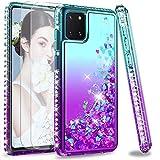 LeYi Coque pour Samsung Galaxy Note 10 Lite/ A81 [2 ×Verre Trempé], Fille Personnalisé Liquide...