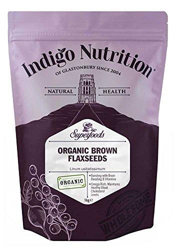 Indigo Herbs Semillas de Linaza / Lino Marrón Orgánicas 1kg