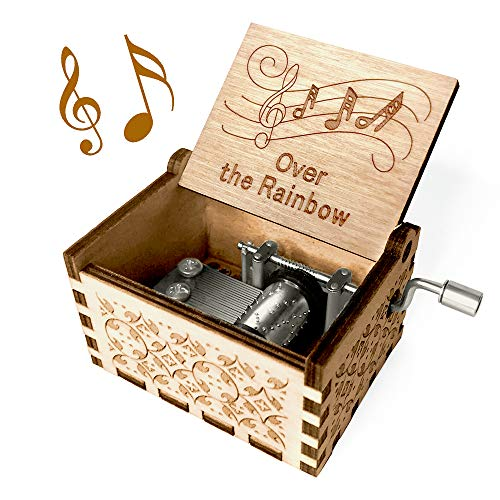 Musical Boxes Cant Help Falling in Love Wooden Hand Crank Music Box Melody About 18 Seconds Baby Toys