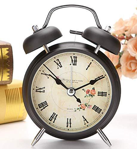 ZhenHe Despertador Reloj Niño Estudiantes Uso silencioso de noche creativo del pequeño despertador simple de la personalidad infantil electrónica linda de gran tamaño Tono Reloj Adecuado para el hogar
