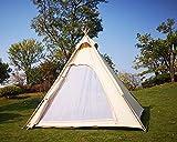 Latourreg Outdoor 2M Canvas Camping Pyramid Tipi Tent