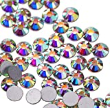 Jollin pegamento Fix Vidrio Diamantes de Cristal de Espalda Plano Gemas de Cristal, cristal AB, SS16 1440pcs
