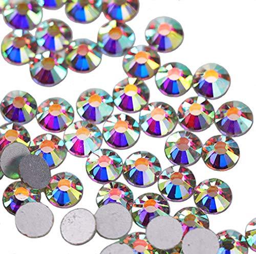 Jollin pegamento Fix Vidrio Diamantes de Cristal de Espalda Plano Gemas de Cristal, cristal AB, SS20 1440pcs