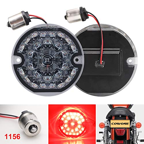 COWONE 2020 Newest 3 1/4 Inch Rear LED Turn Signals 1156 Running Light Brake Lights for Harley Motorcycle Road Glide Road King Softail Ultra Classic Ultra Limited Electra Glide