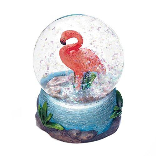 Zings & Thingz 57074243 Pink Flamingo Mini Glitter Globe