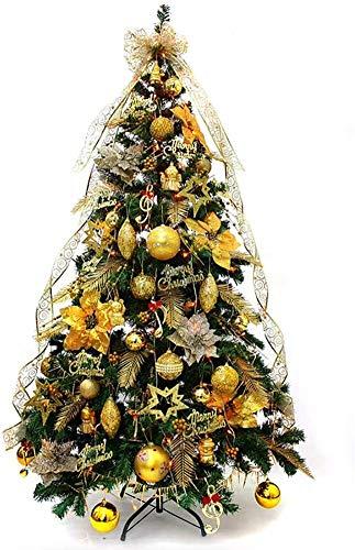 WKLIANGYUANPING Árbol de Navidad Deluxe LED árbol Artificial de Navidad, con Adornos de Oro con bisagras del Soporte del Metal 230 Consejos de Navidad de los árboles Decorados for el Regalo
