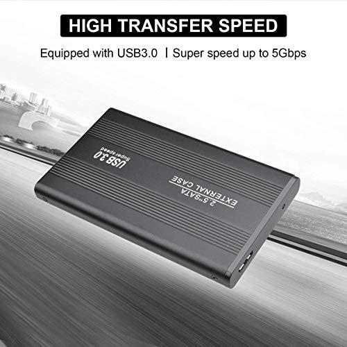 Disco Duro Externo portátil de 1TB / 2TB - HDD Externo ultradelgado Compatible para PC, Mac, Escritorio, portátil (2TB, Plateado) miniatura