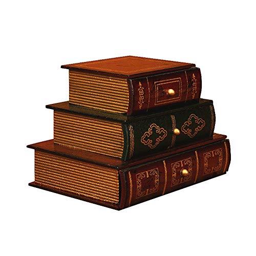 J.Mmiyi Vintage Schmuckschatulle Holz Schmuckaufbewahrung Antike Manuell Personalisierte Schmuckkästchen für Frauen,A