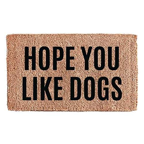 Flocked Coir Doormat - Pets (Hope You Like Dogs)