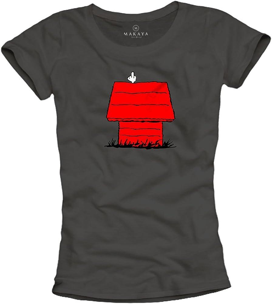 Camisetas Divertidas Mujer - Snoop Dog