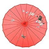 HERCHR Paraguas de Papel engrasado, sombrilla China de 21,3 Pulgadas para decoración de Fiestas de...