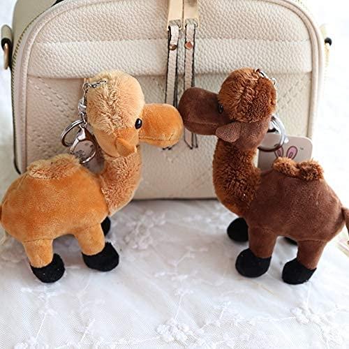 DealMux 2 piezas de llavero de peluche de alpaca, juguetes de llavero...