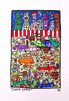 James Rizzi Poster Bild Grafik Junk Yard