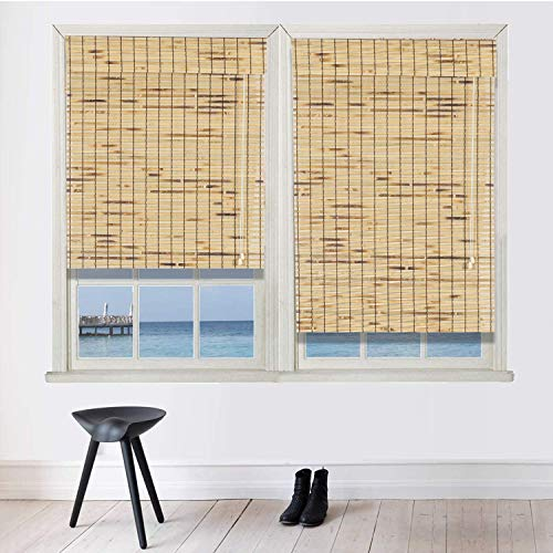 Bamboo Roman Window Blinds Sun Shades, 30W x 72H, Light Filtering Roller Shades,Any Size 24-72 Wide and 72 High