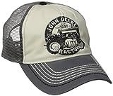 John Deere mens Vintage Tractor Mesh Back Baseball Cap, Charcoal, One Size US
