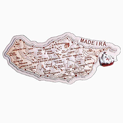 3D Kaart van Madeira Eilanden Portugal Koelkast Magneet Reizen Souvenir Geschenken Collectie Thuis keuken Decoratie Magnetische Sticker Koelkast Magneet