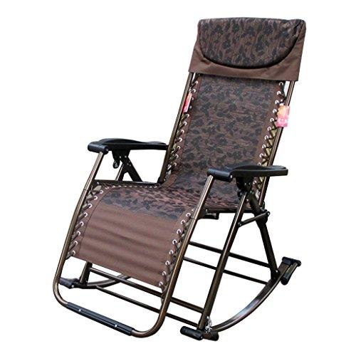 BLWX - schommelstoel volwassen ligstoel balkon schommelstoel lui mensen stoel oudere stoel thuis schommel rieten stoel casual lunch pauze stoel Vouwstoel