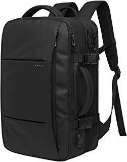 Mochila Ordenador Portátil 15,6 Pulgadas Antirrobo Impermeable Mochilas con Puerto USB, Grande Escalable Mochilas Hombre Mujer Backpack para Viajes Trabajo Estudios 22-37L, Negro