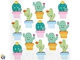 Procos servilleta 33x 33cm Cactus, Multicolor, 5pr89293