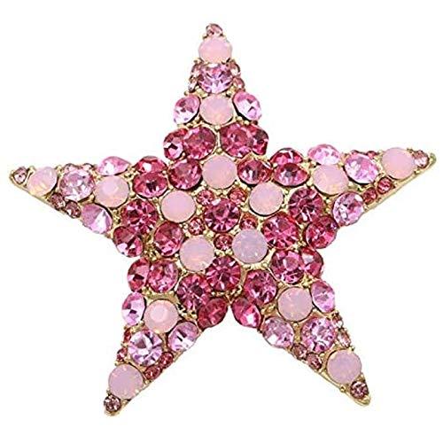 Olcubd El Broche con Forma de Estrella de Estilo Color Rosa