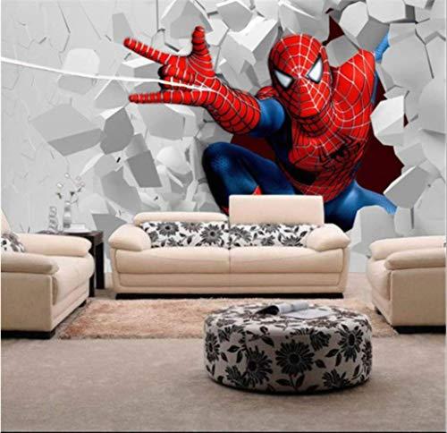 Niños Papel Pintado, Spiderman Mural Para La Habitación De Los Niños De Fondo De Tv Ancho 200cm * Height140cm Un