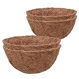 GJCrafts 4 piezas de forro de coco, 35,5 cm de repuesto para cestas colgantes de jardín y macetas.