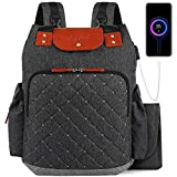 Diaper Bag Backpack Nappy Bag, with Portable Changing Pad Insulated Pockets and Stroller Straps, Waterproof Large Unisex Baby Bags for Boys Girls, Multipurpose Travel Back Pack for Moms Dads (Black)