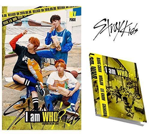 I am WHO 2nd Album Stray Kids [Who ver.] CD + Fotobuch + 3 Fotokarten + Lyrics Poster Sealed