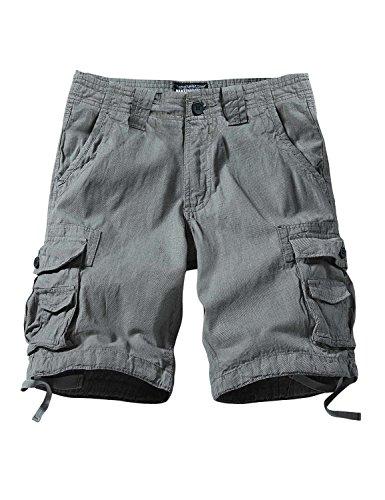 Match Men's Comfort Cargo Short (Label size 4XL/40 (US 38), 3611 Grayish green)