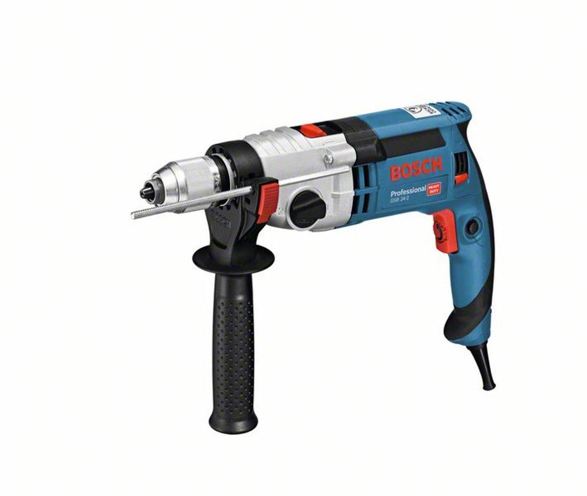 Bosch Professional GSB 24-2 - Taladro percutor (1100 W, 2 velocidades, 3000 rpm, Ø max perforación hormigón 22 mm, en maletín): Amazon.es: Bricolaje y herramientas