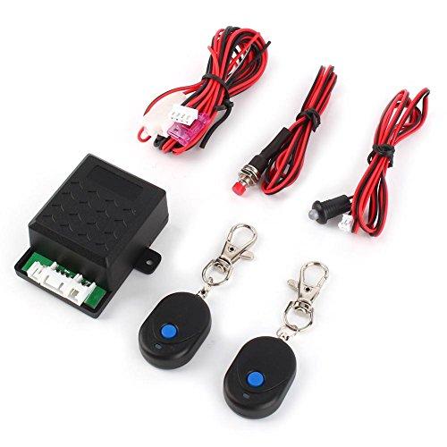 Keenso Kit de Système de Verrouillage Central à Distance Universel Système D'alarme Antivol Protection Système D'entrée Sans Clé avec Télécommande