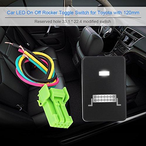 LED light bar interruttore on-off LED, Keenso 12V-24V LED auto ON off interruttore a levetta per Toyota Highlander Camery Yaris Prius Carora