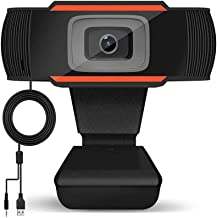 Webcam with Microphone 720P HD Web Camera USB PC Camera Pro Streaming Camera for Laptop Desktop Video Conference Calls Web...