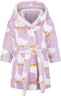 XINNE Chłopięcy dziewczęcy miękki szlafrok uroczy wzór szlafroki maluch niemowlę flanelowa bluza z kapturem piżama bielizn...