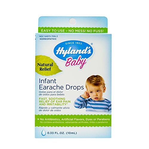 Ear Drops for Baby by Hyland's, Infant Earache Drops, Natural Homeopathic Earache Pain Relief from Allergy and Cold & Flu, 0.33 Ounce