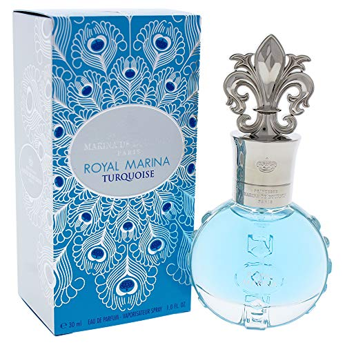 Royal Marina Turquoise by Princesse Marina de Bourbon | Eau de Parfum Spray | Fragrance for Women | Fresh Floral Scent with Notes of Green Apple and Lily of the Valley | 30 mL / 1 fl oz