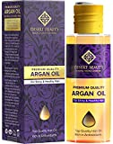 Premium Argan Oil for Hair, Hair Oil Treatment for Dry Damaged Hair, Leave in Hair Growth Oil (120 ML/4 OZ) Moroccan Oil Formula for Conditioning & Hair Loss Prevention by Desert Beauty