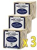 Marius Fabre - MARSIGLIA SAPONE con olio d'oliva, 200 gr - Confezione da 3 cubi 200 gr