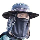 Mei XU Aire Libre Sombrero de Camuflaje/Transpirable/Protector Solar/Tapa de protección UV, Gorro de...