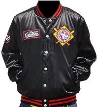 New! Mens Negro League Baseball Museum Satin Fraternity Jacket Button Up Coat