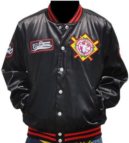 Big Boy Gear New! Mens Negro League Baseball Museum Metallic Fraternity Jacket Button Up Coat (4XL)