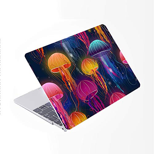 SDH Case Compatible Older for MacBook Pro Retina 13 inch (Release 2015-end 2012),Plastic Pattern Hard Shell & Gradient Keyboard Skin Cover for Mac book Pro 13 (Model:A1502/A1425), Abstract jellyfish 2