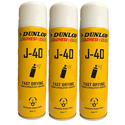 3 x 500ml Dunlop Schaumstoffkleber Polsterkleber Sprühkleber Industriekleber