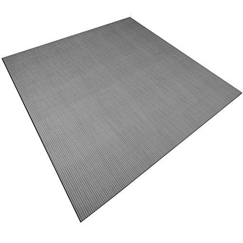 casa pura Design Bodenschutzmatte Lucca | Unterlegmatte für Fitnessgeräte | zuverlässiger Bodenschutz | 60x120cm