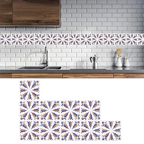 Adhesivos para baño, resistentes al aceite, hermosos y delicados adhesivos para baldosas de cerámica, resistentes al color para la cocina y el comedor(5)