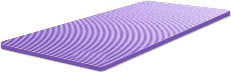 SPFOZ Yogamatte Yoga-Mattenverdickung verbreiterte Yogamatteneignung Sportfrauen Lange Rutschfeste Sportyogamatten nach Hause (Farbe   Lila, gre   15mm)
