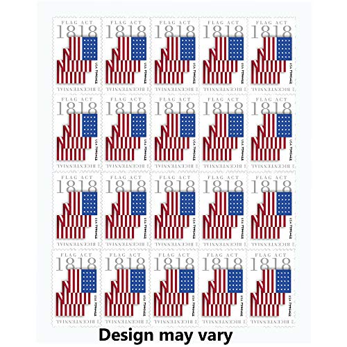 Flag Act of 1818 Full Sheet of 20 Forever Stamps Scott 5284