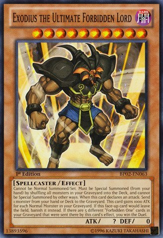 YU-GI-OH! - Exodius The Ultimate Forbidden Lord (BP02-EN063) - Battle Pack 2: War of The Giants - 1st Edition - Common